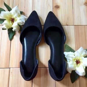 Forever 21 Black D'orsay Pointy Toe Flats Size 8